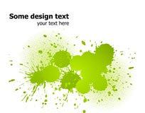A pintura abstrata verde espirra o fundo. Vetor Fotografia de Stock