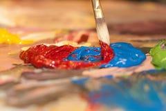 Pintura acrílica Foto de Stock Royalty Free