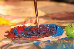 Pintura acrílica Fotos de Stock