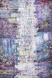 Pintura acrílica abstrata A água espirra Imagem de Stock Royalty Free