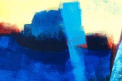 Pintura acrílica abstrata Fotografia de Stock