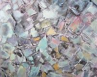 Pintura acrílica abstrata Cursos da escova Fotografia de Stock Royalty Free