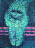 Pintura acrílica abstrata loneliness Imagens de Stock Royalty Free