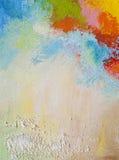 Pintura acrílica abstrata Foto de Stock