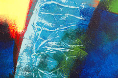 Pintura acrílica abstrata sem título Imagens de Stock Royalty Free