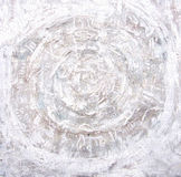 Pintura acrílica Círculos impetuosos no fundo textured Imagens de Stock Royalty Free