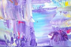 Pintura acrílica tirada mão Fundo da arte abstrata Pintura acrílica na lona Textura da cor Fragmento da arte finala brushstrokes Foto de Stock Royalty Free