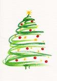 Pintura adornada del árbol de navidad Foto de archivo