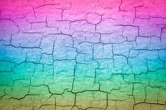 Pintura agrietada colorida ilustración del vector