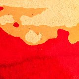 Pintura agrietada en la loza de barro roja vieja Fotografía de archivo libre de regalías