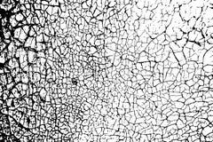 Pintura agrietada en una pared vieja como la textura o fondo, vector EPS10 del grunge Imagen de archivo