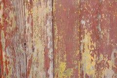 Pintura agrietada en una puerta de madera Imagen de archivo libre de regalías
