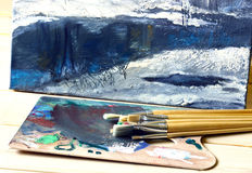 Pintura al óleo Foto de archivo