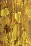 Pintura al óleo abstracta con oro Imágenes de archivo libres de regalías