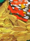 Pintura al óleo abstracta del oro Foto de archivo