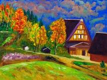 Pintura al óleo - campo Fotografía de archivo libre de regalías