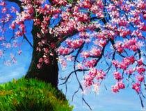 Pintura al óleo - cereza Foto de archivo libre de regalías