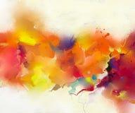 Pintura al óleo colorida abstracta en textura de la lona Imágenes de archivo libres de regalías