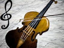 Pintura al óleo de jugar del violín ilustración del vector