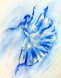 Pintura al óleo en la lona, bailarina libre illustration