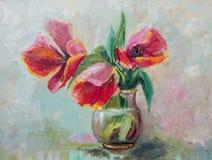Pintura al óleo, estilo del impresionismo, pintura de la textura, stil de la flor Fotografía de archivo libre de regalías