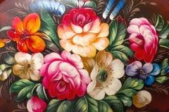 Pintura al óleo, estilo del impresionismo, pintura de la textura, stil de la flor Imagenes de archivo