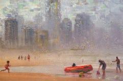 Pintura al óleo original Fotografía de archivo libre de regalías