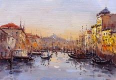 Pintura al óleo - Venecia, Italia Imagenes de archivo