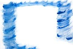 Pintura alaranjada abstrata da mão da arte da aquarela no fundo branco, fundo da aquarela Foto de Stock Royalty Free