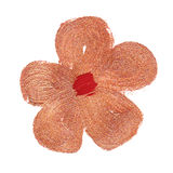Pintura alaranjada da escova da flor Foto de Stock Royalty Free