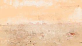Pintura alaranjada do grunge da natureza da desolação da ilustração do teste padrão seco da textura do deserto Foto de Stock