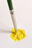 Pintura amarilla Imagen de archivo