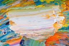 Pintura amarilla, roja, azul, blanca en la paleta imágenes de archivo libres de regalías