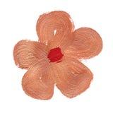 Pintura anaranjada del cepillo de la flor Foto de archivo libre de regalías