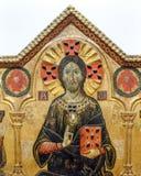 Pintura antiga com Jesus Christ imagens de stock royalty free