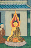Pintura antigua de buddha Fotografía de archivo libre de regalías