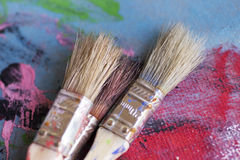 Pintura, artista, cepillo Imagen de archivo libre de regalías