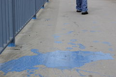 Pintura azul Imagens de Stock Royalty Free