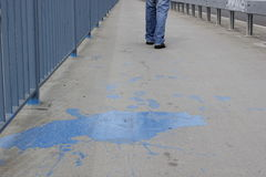 Pintura azul Imagem de Stock Royalty Free