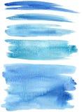 A pintura azul afaga o vetor Fotografia de Stock