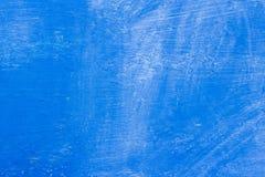pintura azul da textura do fundo com manchas e estalo em alguns lugares fotografia de stock