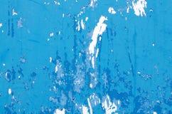 Pintura azul de la peladura Imagenes de archivo