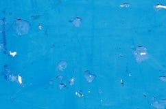 Pintura azul de la peladura Foto de archivo libre de regalías