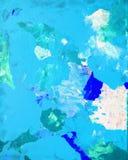 Pintura azul del arte abstracto Imágenes de archivo libres de regalías