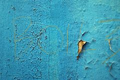 Pintura azul Exfoliating 2 Imagen de archivo