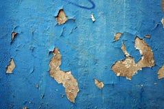 Pintura azul Exfoliating 1 Fotos de archivo libres de regalías