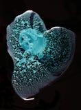 Pintura azul Glittery en agua. fotos de archivo