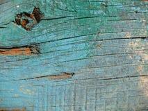 Pintura azul vieja en la madera Foto de archivo libre de regalías