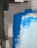 Pintura azul y gris del arte abstracto Imágenes de archivo libres de regalías