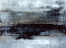 Pintura azul y gris del arte abstracto Fotos de archivo